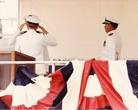 USS Bonefish Change of Command 1986